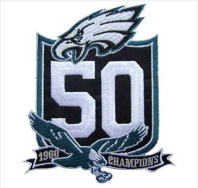 sale retailer 7a11c b155a Stitched Philadelphia Eagles 50th Anniversary Jersey Patch ...