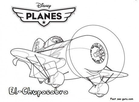 Printable Planes Movies El Chupacabra Coloring Page