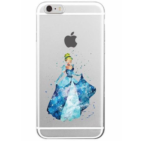Disney Aquarelle Cinderella Soft Iphone Case Flexible Transparent