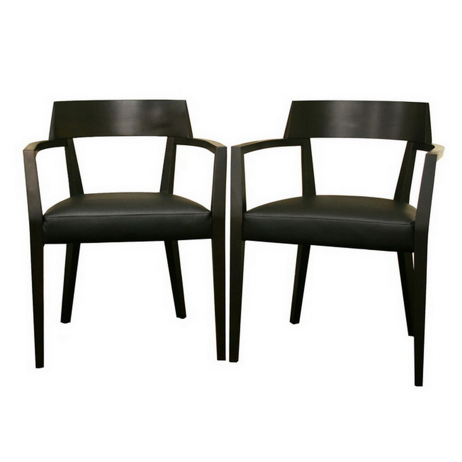 leather dining chairs modern. Baxton Studio Laine Wenge Wood And Faux Leather Modern Dining Chair - Set Of 2 Chairs