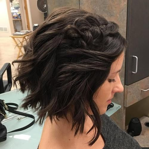 40 Gorgeous Braided Hairstyles For Short Hair Short Wedding Hair Short Hair Styles For Round Faces Short Hair Updo