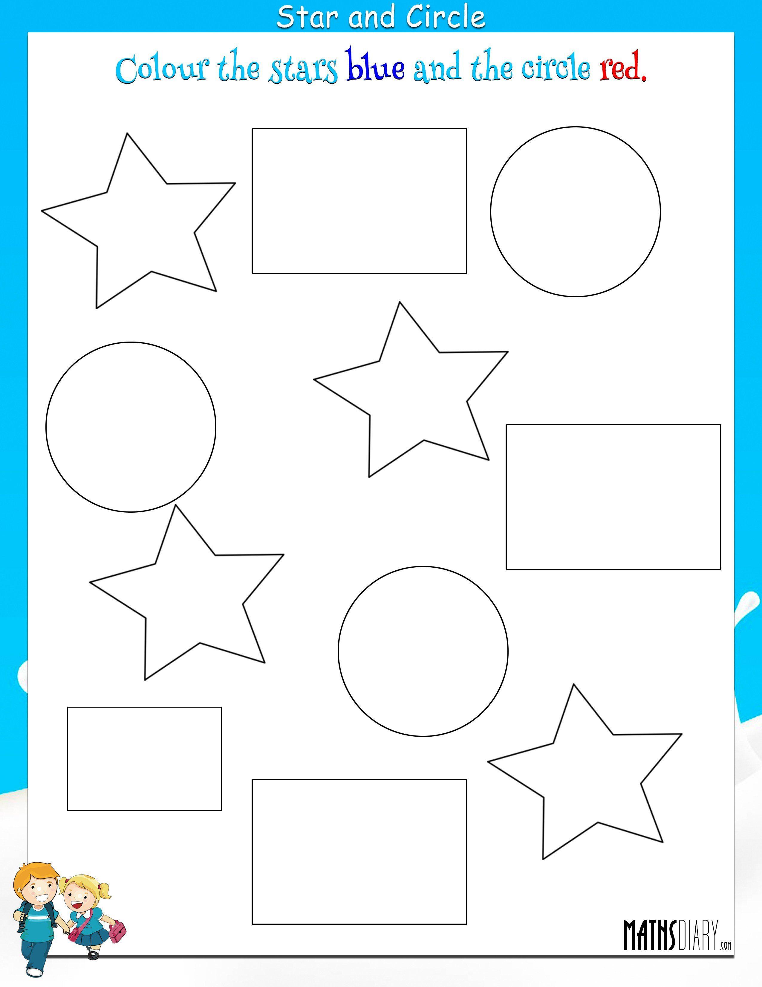 Maths Worksheet For Nursery Kids Coloring