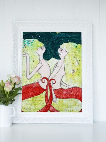 Pisces Mermaid Print Natalie Briney Artist