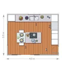Resultado de imagen para plano cocina isla central for Planos de cocinas modernas con islas