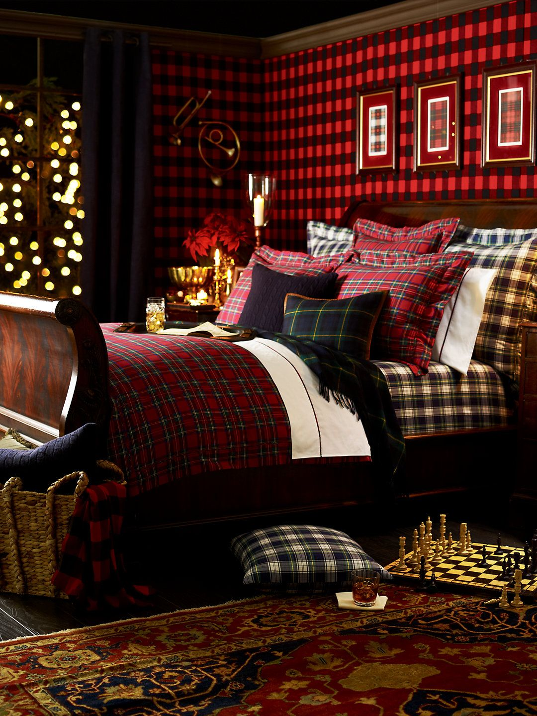 Classic Timeless Traditional Decorate Your Home For Fall Plaid Bedroom Christmas Bedroom Winter Bedroom
