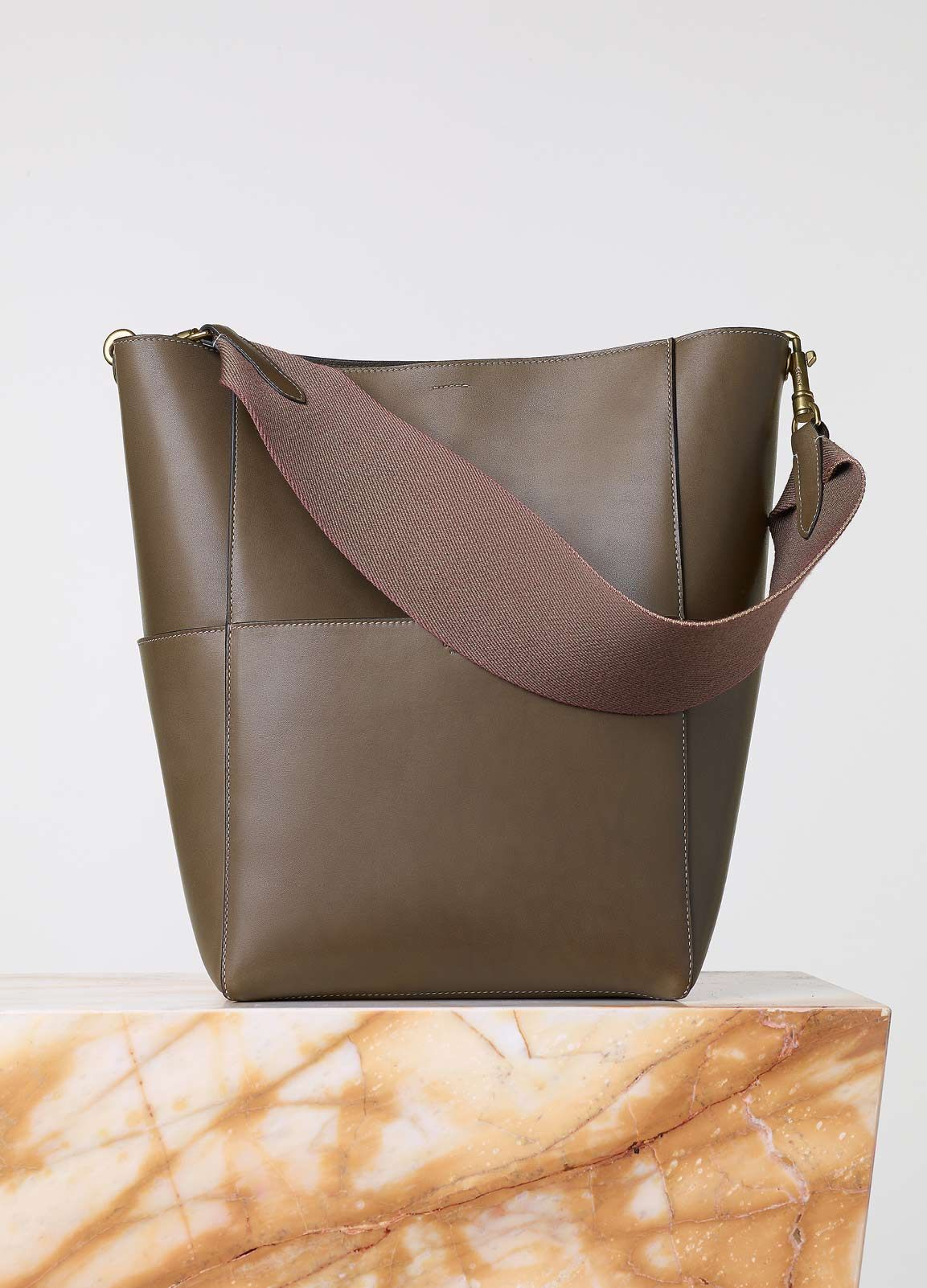 Sangle Seau Bag in Natural Calfskin - Fall   Winter Collection 2015 ... fa1189348f6d7