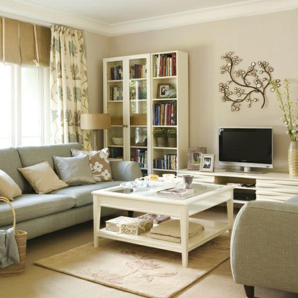 moderne-wohnzimmereinrichtung-beispiele-kleines wohnzimmer mit ...