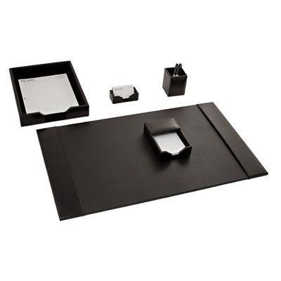 Dacasso Econo-Line 5 Piece Desk Set Color: Black