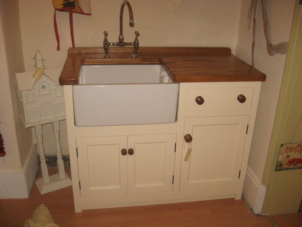 Great 1200 X 600 FREESTANDING MURDOCH TROON PINE KITCHEN BELFAST SINK UNIT OAK  WORKTOP