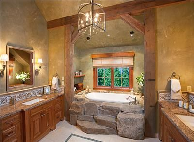 Superb I Like The Stonework On The Tub   Homey Country/Rustic Bathroom By Lynette  Zambon