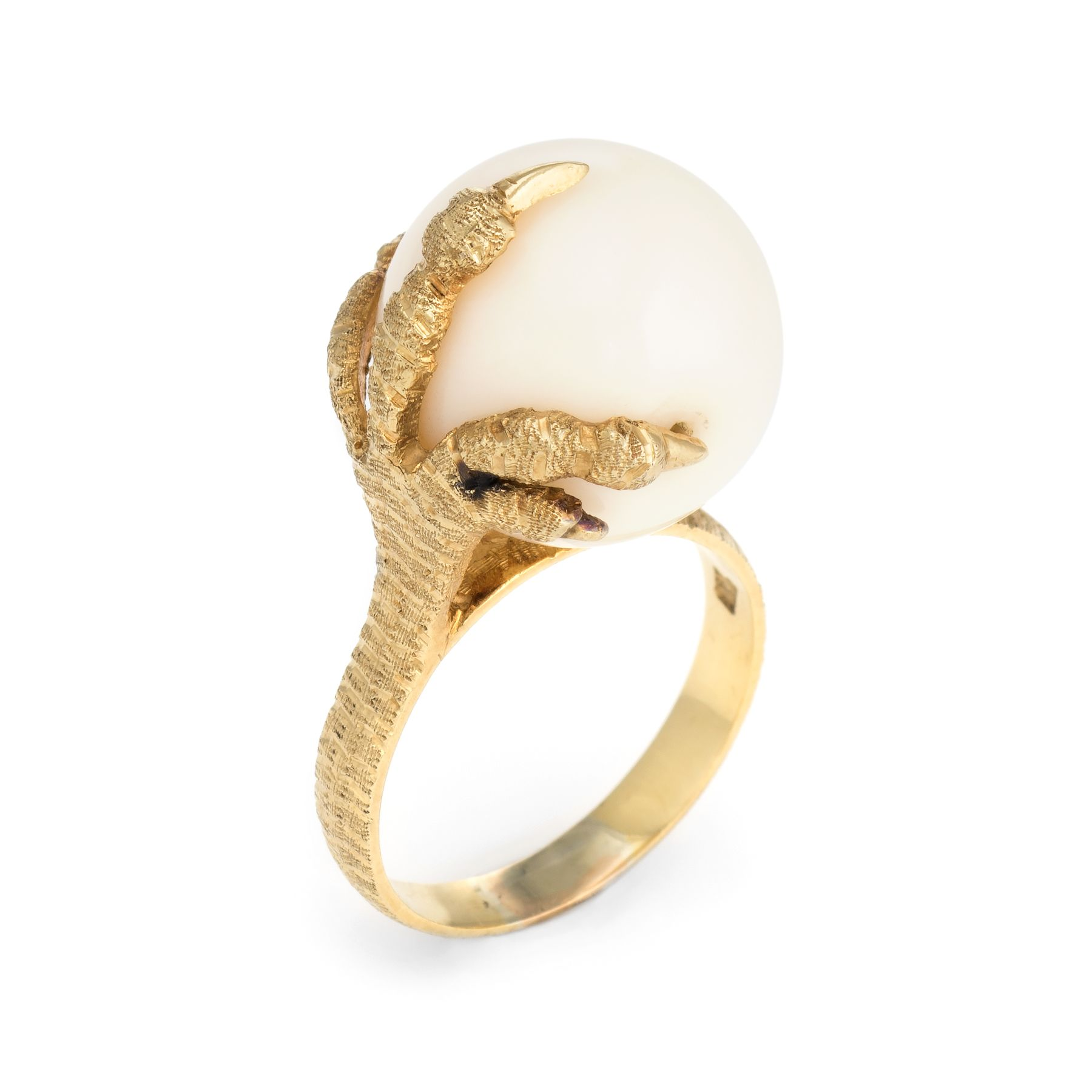 03f1389d39 Vintage Dragon Claw Ring 18 Karat Yellow Gold Coral Orb Estate Fine Jewelry  Sz 8 #dragon #rings #vintagejewelry
