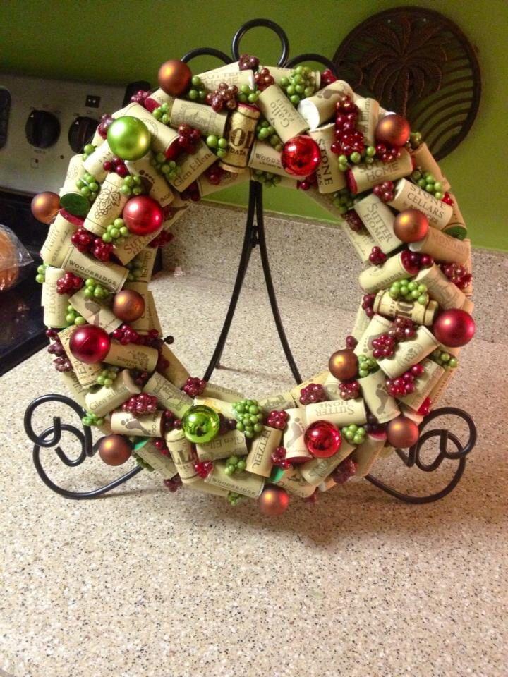 The Chic Technique Wine Cork Christmas Wreath