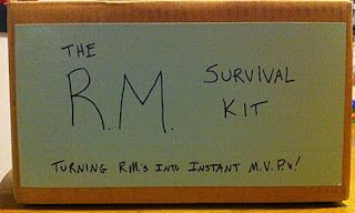 Return Missionary Survival Kits - to be sent to them before they come home!  Cute idea!