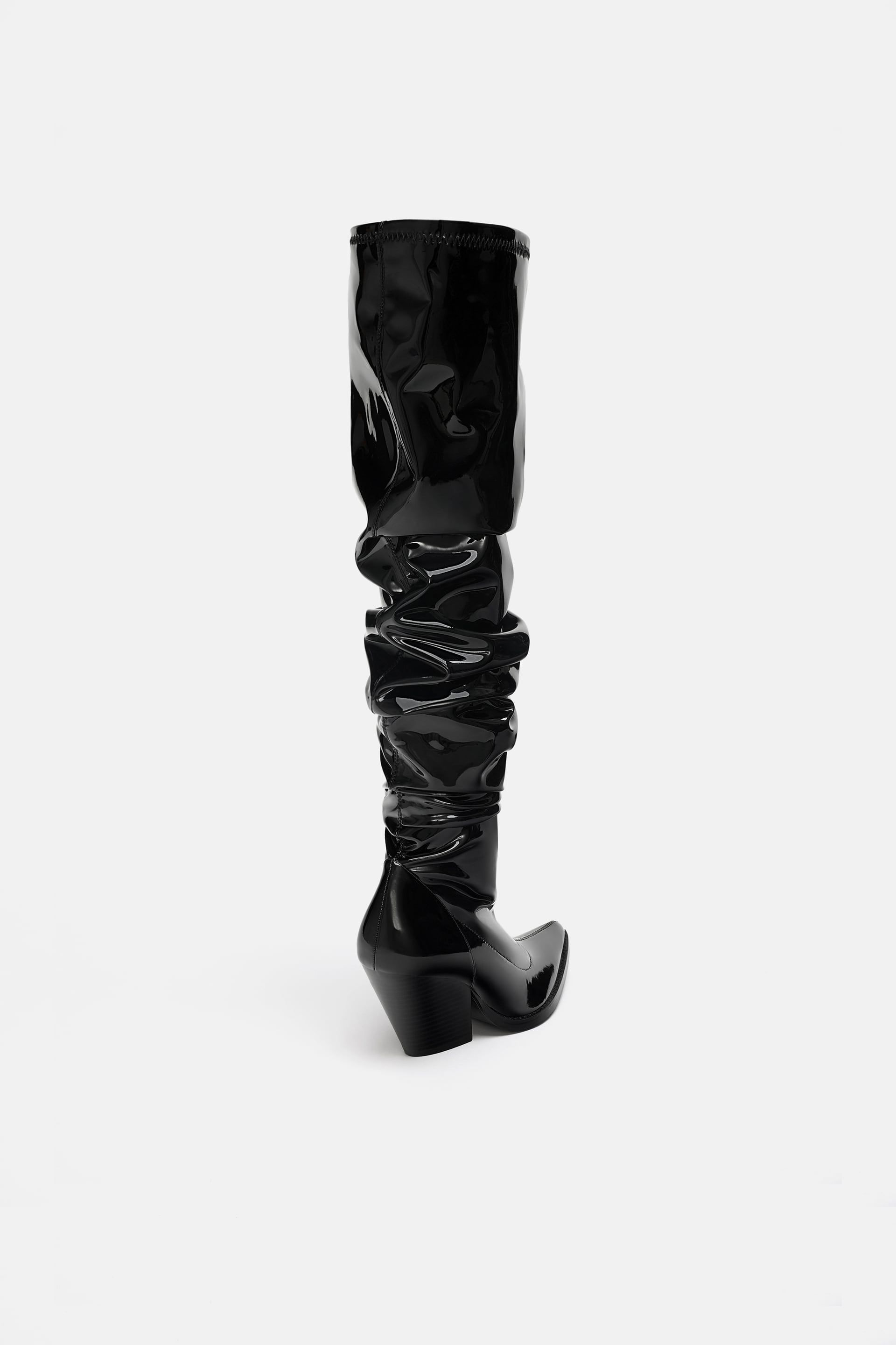 72ea628f112 Image 5 of OVER-THE-KNEE COWBOY BOOTS from Zara