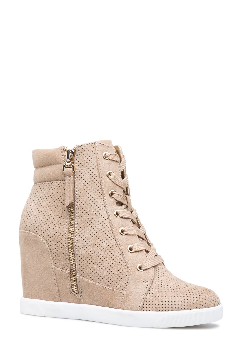 84f88ec022d TALISA PERFORATED SNEAKER WEDGE - ShoeDazzle