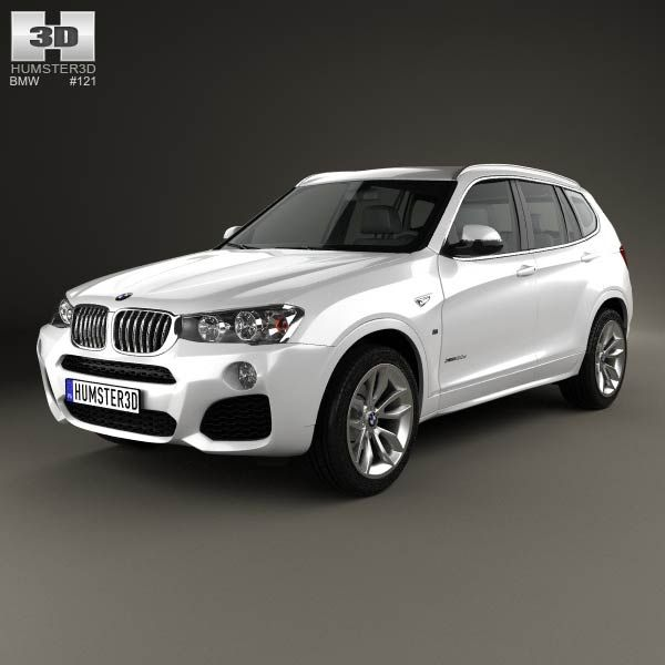BMW X3 M Sport Package (F25) 2014 3d Model From Humster3d