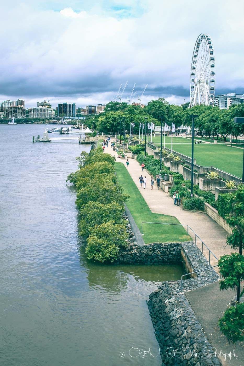 Landscapes along the south bank - Clem Jones Promenade Runs Along The River In South Bank Brisbane