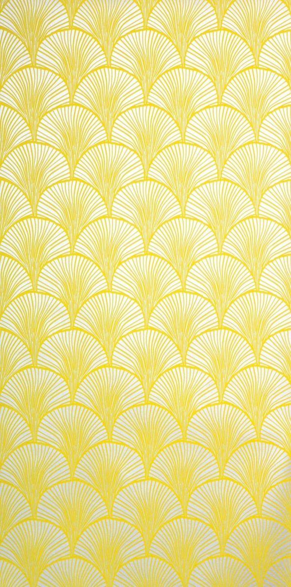 eine gelbe tapete im schlaf oder wohnzimmer wirkt sehr erfrischend haus ideen pinterest. Black Bedroom Furniture Sets. Home Design Ideas