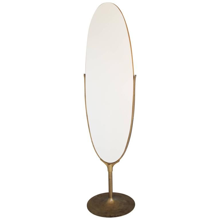 Oval Dressing Mirror with a Brass Frame | Dressing mirror, Modern ...