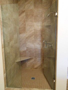Master Bathroom Remodel Project Shower With 12x24 Porcelain Tiles To The Ceiling Tile Work By M Master Bath Shower Traditional Bathroom Finished Bathrooms