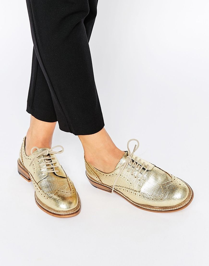 ASOS MORAL Leather Brogues at asos.com. Low Heel ShoesLace ...