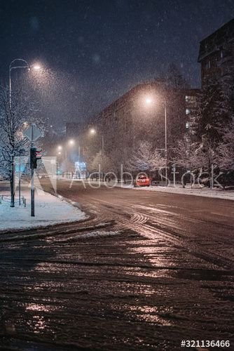 Street while snowing , #spon, #Street, #snowing #Ad