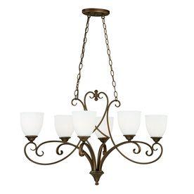 Cascadia Claret 6-Light Venetian Bronze Chandelier