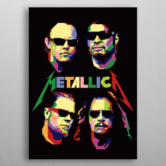 metallica wpap | Displate thumbnail