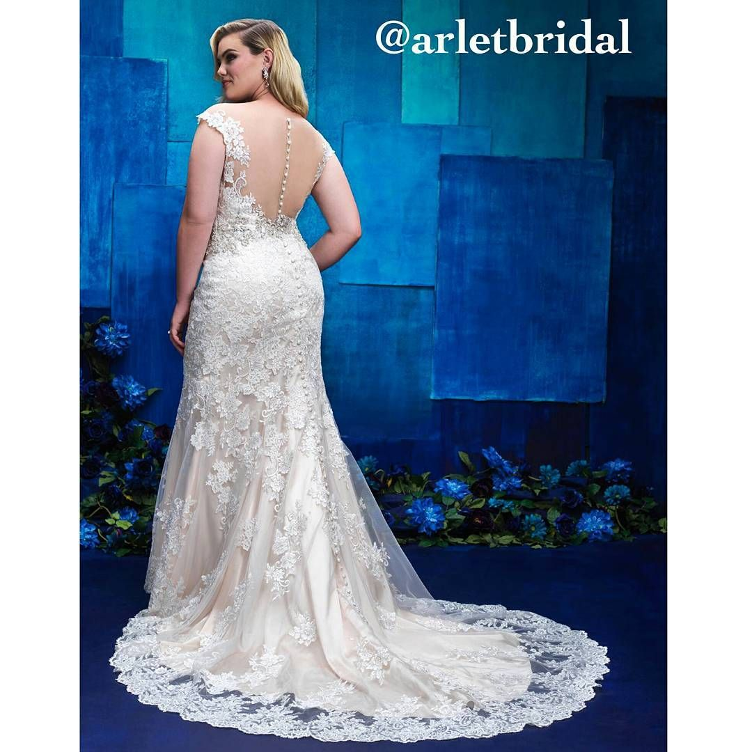Such a lovely gown by #AllureBridals Ladies, we proudly carry ...
