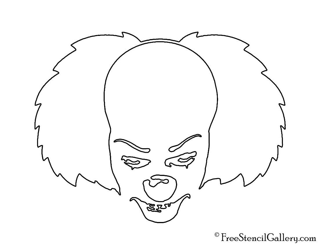 pumpkin template it  pennywise pumpkin pattern | It - Pennywise the Clown Stencil ...