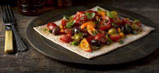 Marinated Tomato Salad Wrap