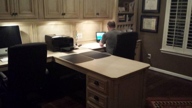 competitive price 8c5f0 96a32 T-Shaped Desks, Custom, computer desk, remodeling, home ...