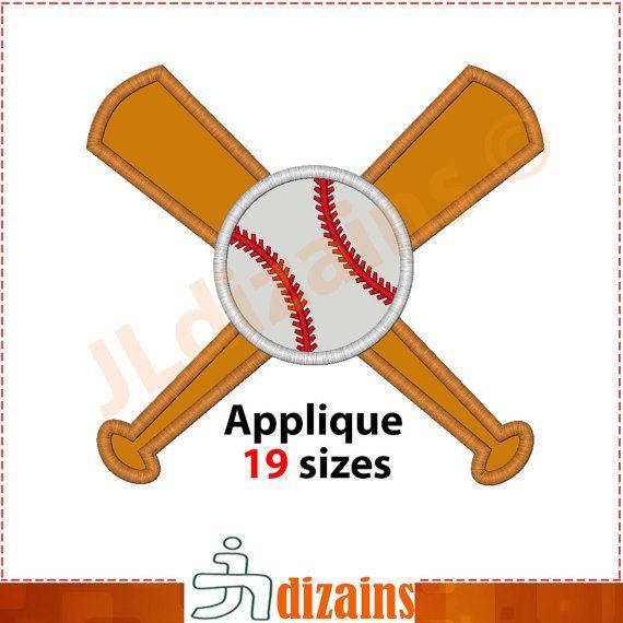 Baseball Applique Design Baseball Embroidery Design Baseball Etsy Baseball Applique Applique Designs Machine Embroidery Designs