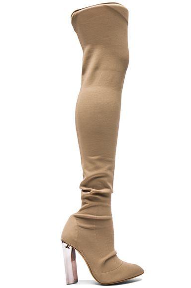 Sock Knit Tall Boots