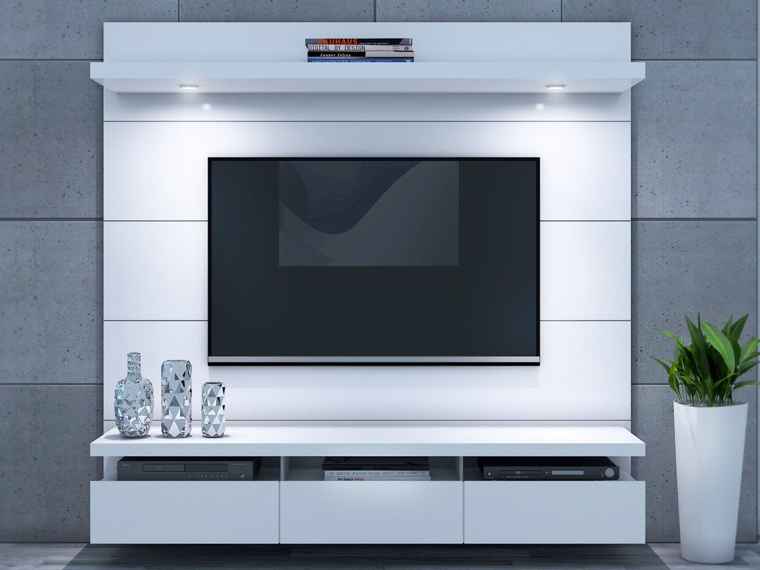 Julius Floating Entertainment Center For Tvs Up To 60 Floating Entertainment Center Wall Tv Unit Design Tv Cabinet Design