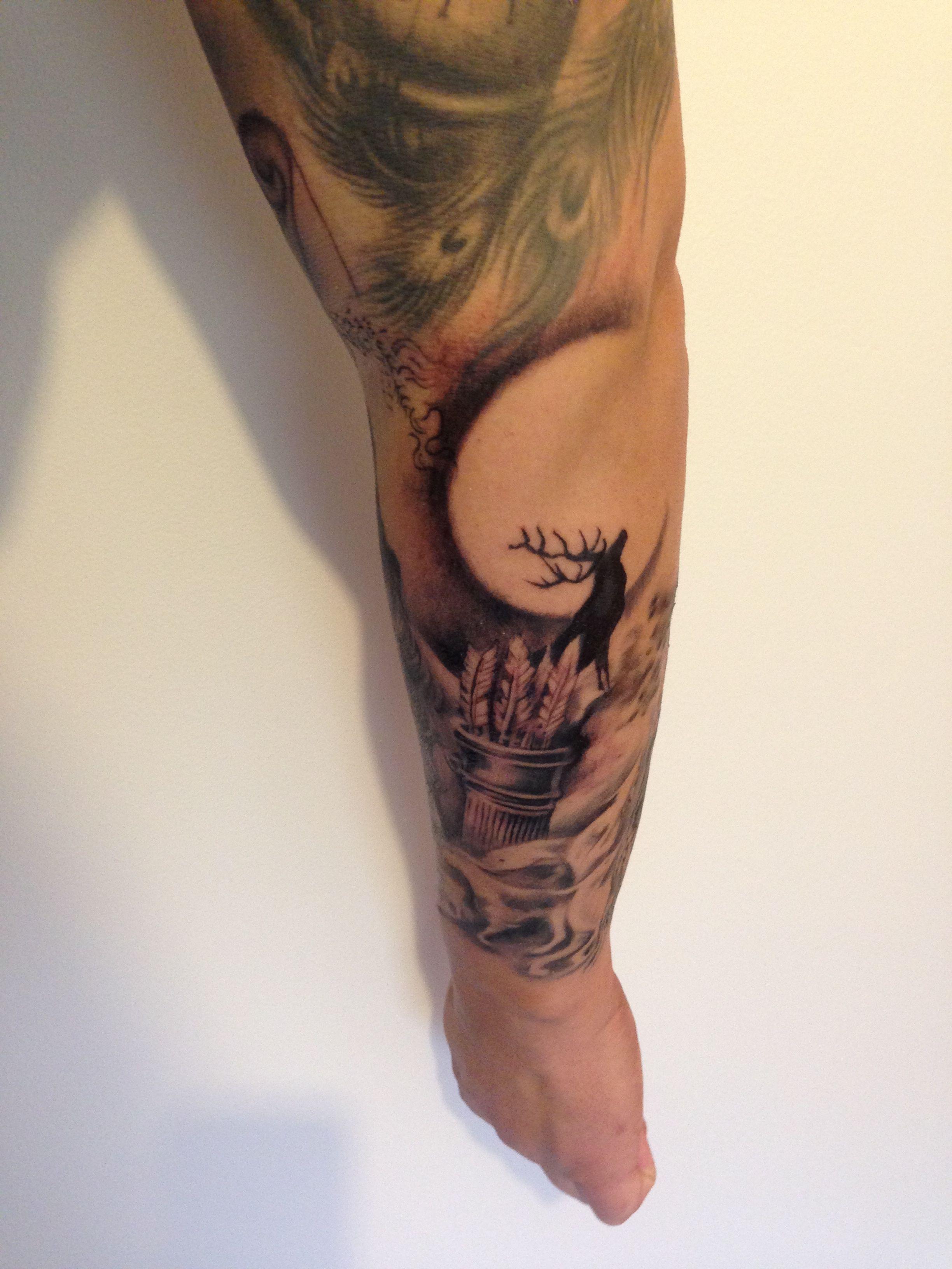 Goddess Spine Tattoo: Behind Artemis, Goddess Of The Hunt, Wild Animals And