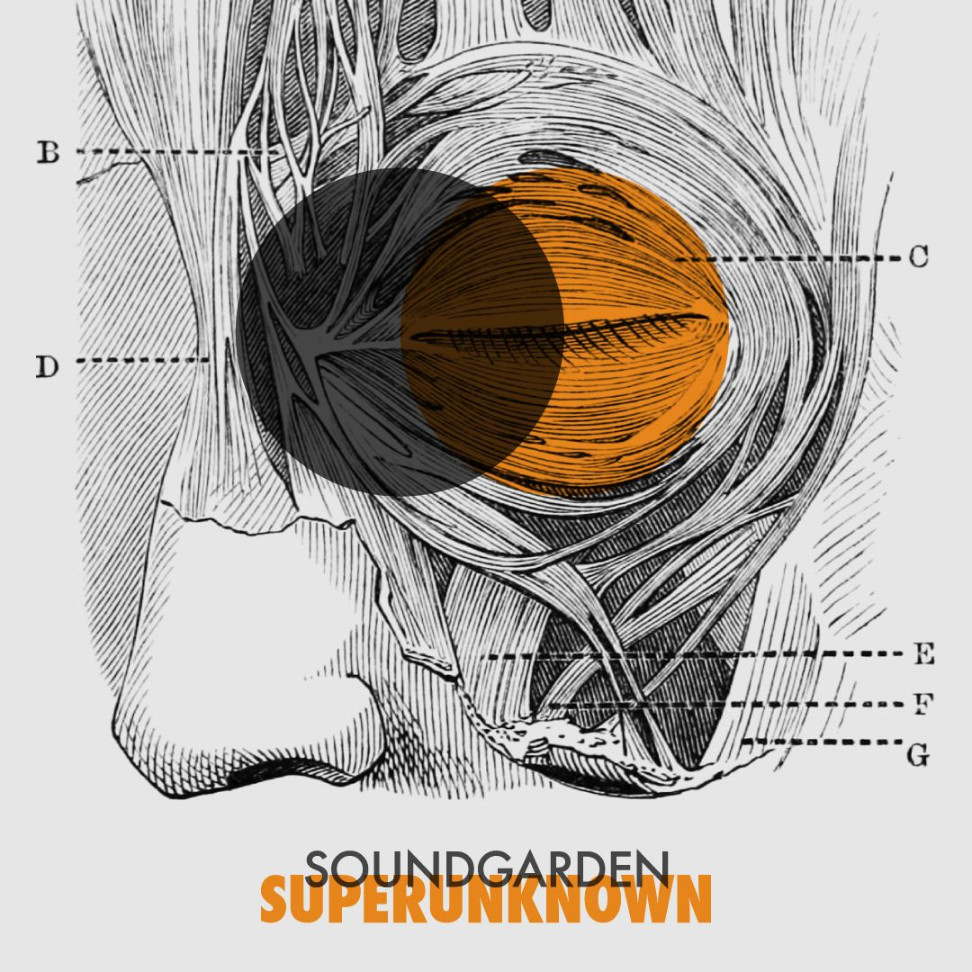 Soundgarden, SuperunknownDesign by Christopher MichonFUTURALBUM is a collaborative album design project from Strong Odors