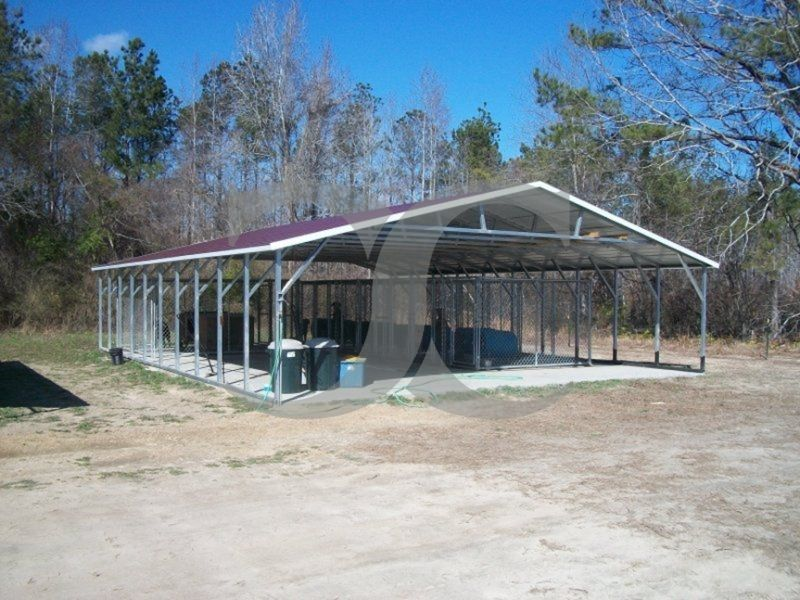 Carport Vertical Roof 30w X 41l X 6h Triple Wide Metal Buildings Carport Metal Carports