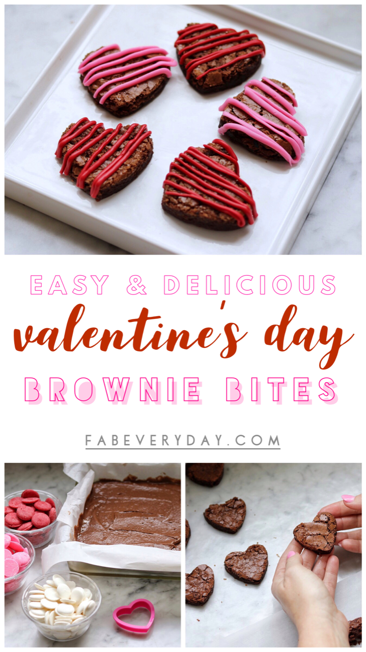 Brownie Hearts Easy Valentine S Day Brownie Bites Recipe Fab Everyday Recipe Valentines Baking Brownie Bites Recipe Valentines Recipes Desserts
