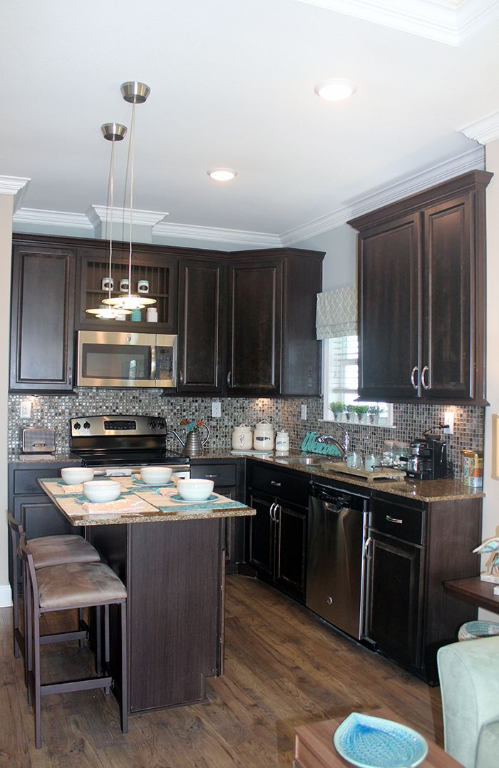 Kitchen Model Homes sea haven floor plan || park model homes || florida & gerogia
