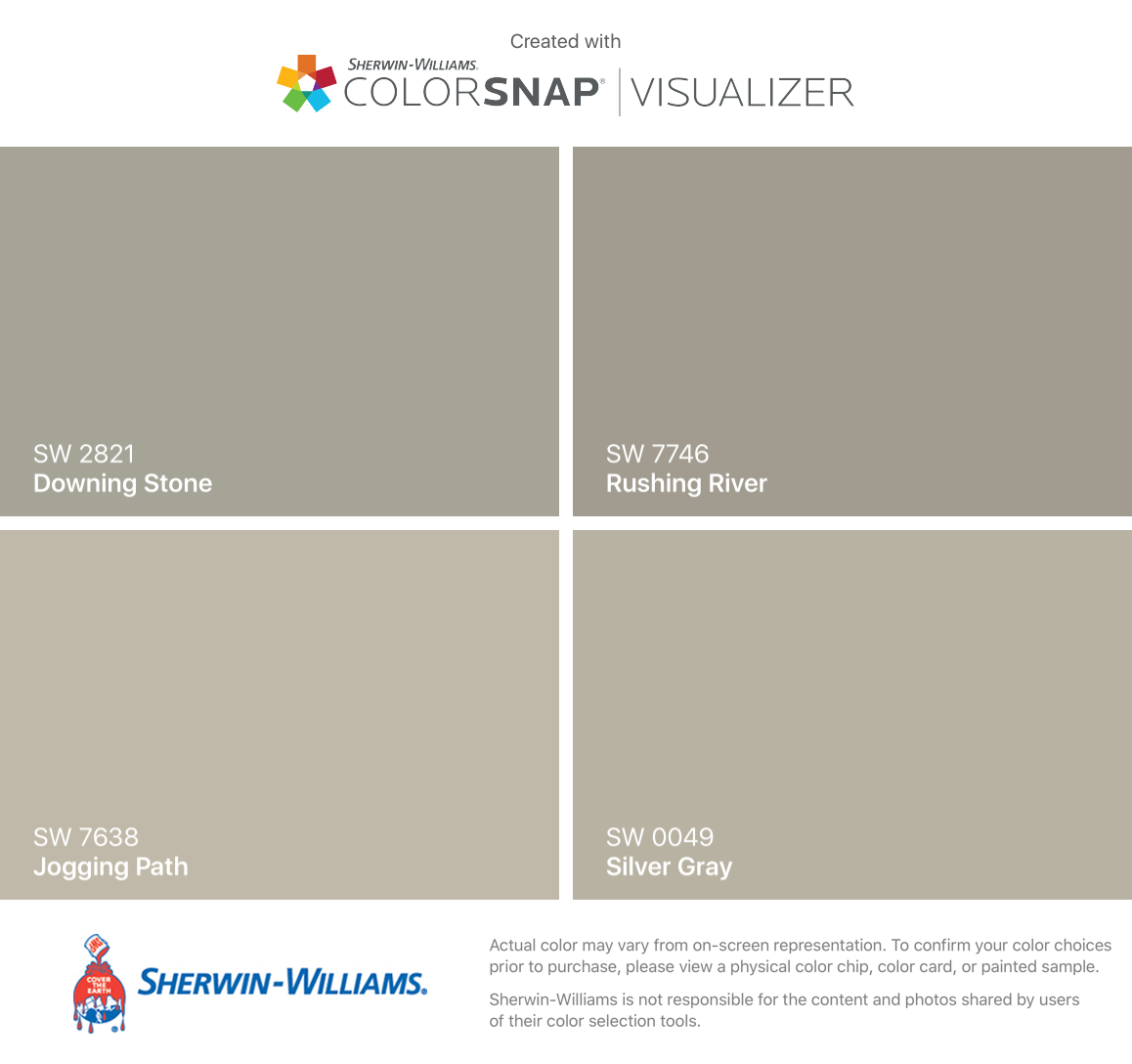 I Found These Colors With ColorSnap® Visualizer For IPhone By Sherwin  Williams: Downing
