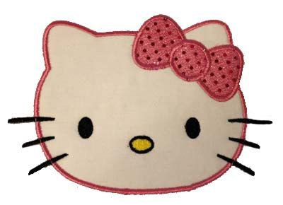 Hello kitty applique sewing hello kitty