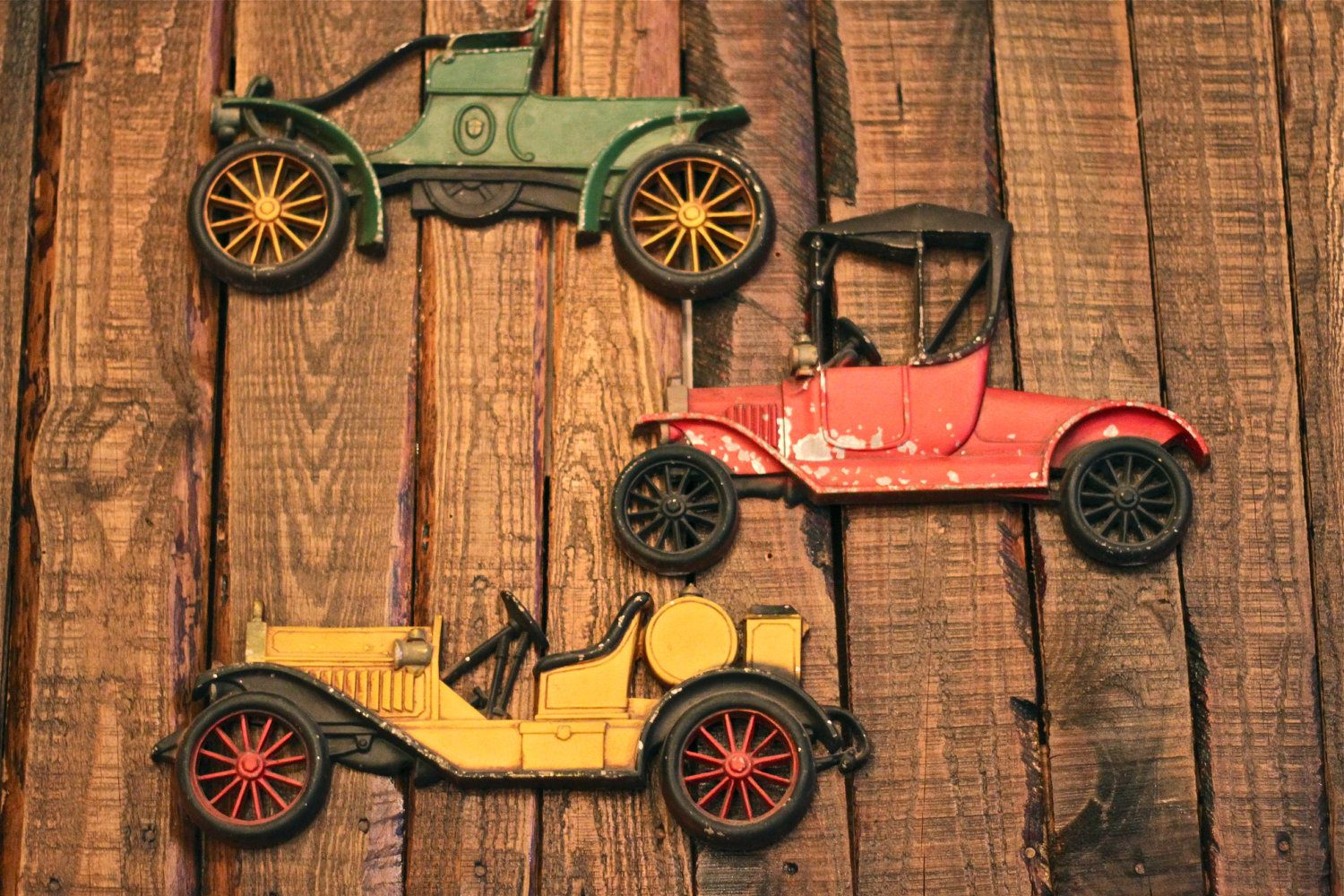 Vintage 3 Piece Antique Classic Car Cast Iron Wall Decoration Etsy Vintage Car Bedroom Iron Wall Antiques