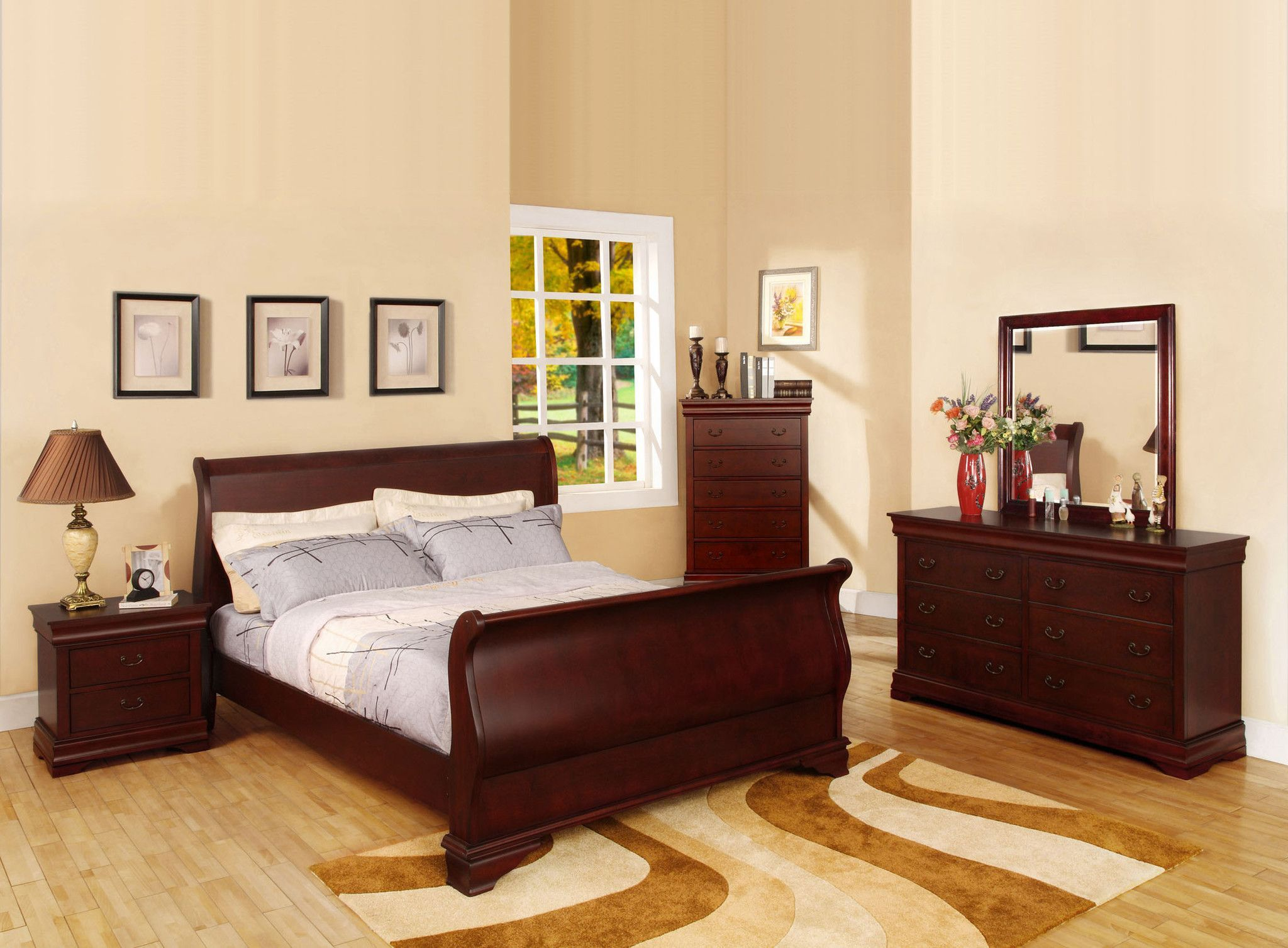 Best Furniture Of America Sirius Transitional Sleigh Bed Cuartos 640 x 480