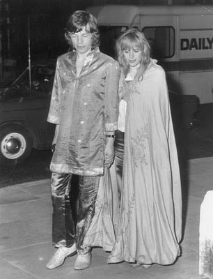 Marianne Faithfull and Mick Jagger