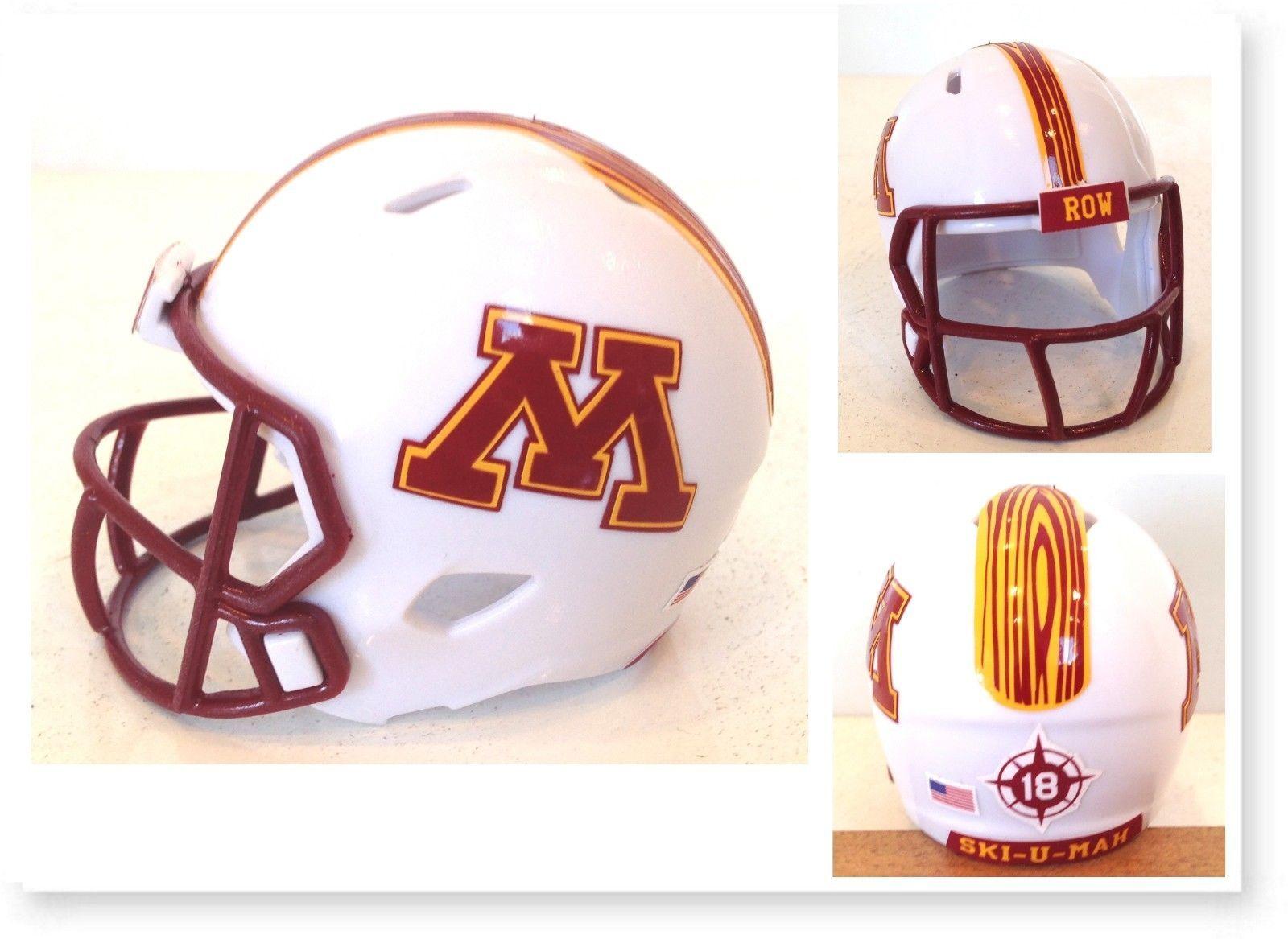 Minnesota Golden Gophers Authentic College Xp Football Helmet Schutt Matte Football Helmets Minnesota Gophers Minnesota Golden Gophers