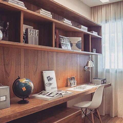 Home office em madeira dicameiramartins decor interiores