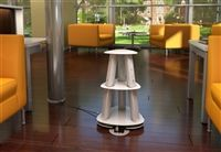 Clue #21 Down - This product is an independent power and charging hub which can be used in a variety of ways. Simply move and position the unit among a cluster of chairs or tables in a lounge or student center or bring into a conference room area to provide power and charging for a group of users.