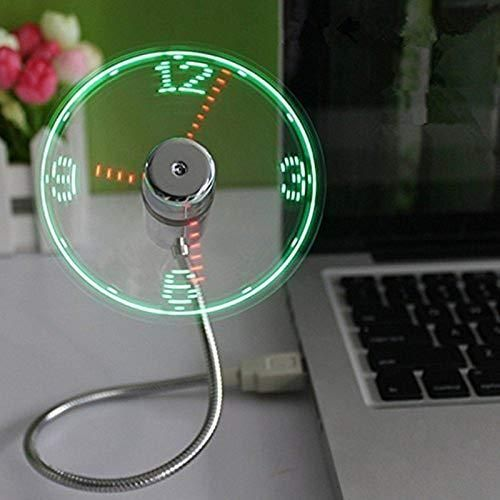 USB LED Clock Fan with Real Time Display