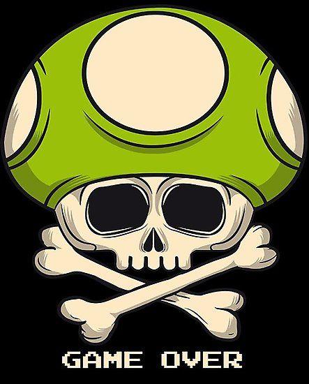 Game Over | Картинки с черепами, Череп, Стрит-арт